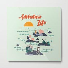 Adventure Shibas Metal Print