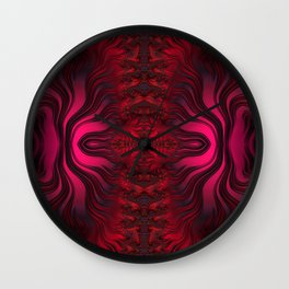 Sunset Reflections Dancing on the Ocean Fractal Abstract Wall Clock