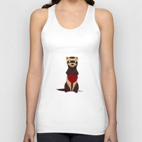 ferret Tank Tops featuring Lovely Ferret by Olluga