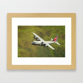 Low Flying Hercules With Special RAF Centenary Tail Art Framed Art Print