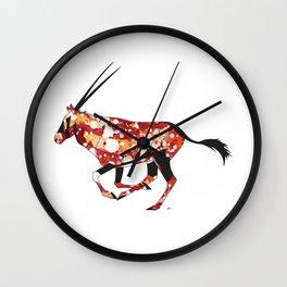 Red Sun Oryx Wall Clock