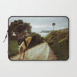 Surfer Boy, Cardiff, California Laptop Sleeve