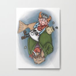 The Walrus and The Carpenter Metal Print
