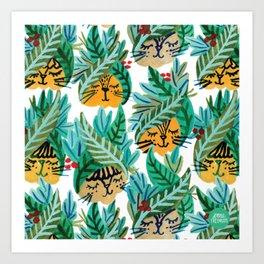 Cabbage Cats Art Print