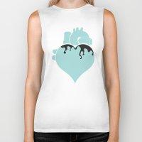 pastel goth Biker Tanks featuring Pastel Goth Heart by Minette Wasserman