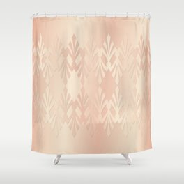 Art Deco Delicate Rose Gold Pattern Shower Curtain