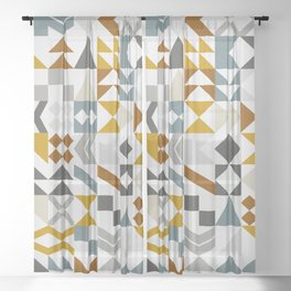 Mid West Geometric 05 Sheer Curtain
