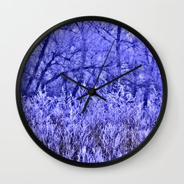 Rough and misty Wall Clock