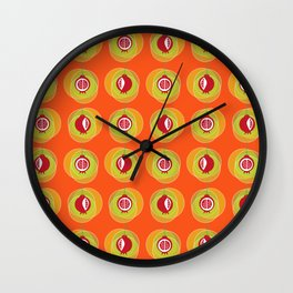 Pomegranage wind chime Wall Clock