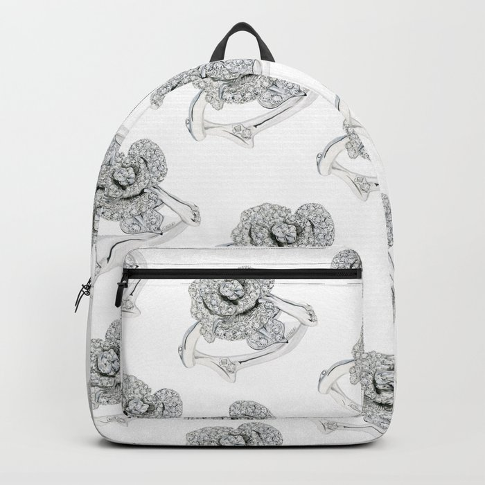 Silver Rose Ring Backpack