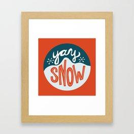 yay snow Framed Art Print