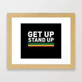 Get Up Stand Up / Rasta Vibrations Framed Art Print