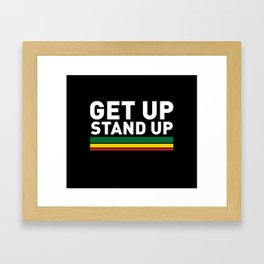 Get Up Stand Up / Rasta Vibrations Framed Art Print