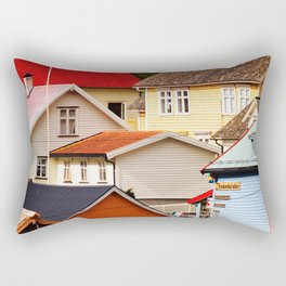 Fjord Houses Rectangular Pillow