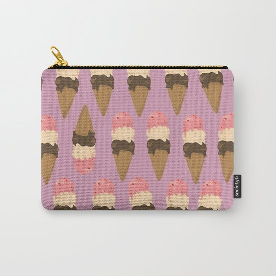 neapolitan ice cream pattern, millennial pink Carry-All Pouch