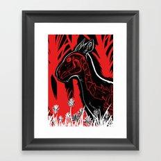 The Demon sleeps Framed Art Print