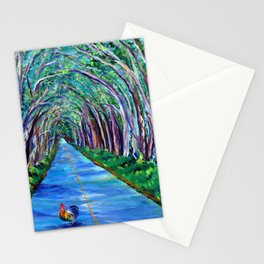 Tree Tunnel with Rooster Stationery Cards