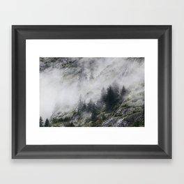 Alaskan Fog Framed Art Print