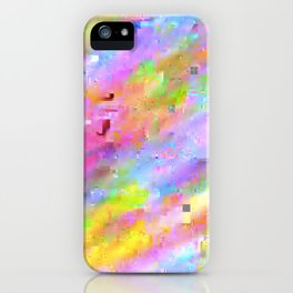 Neon Glitch iPhone Case