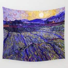 Lavender Fields with Rising Sun by Vincent van Gogh Wall Tapestry
