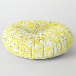 Speckles Lemon Floor Pillow