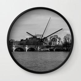Paris Ile de La Cite and River Seine Wall Clock