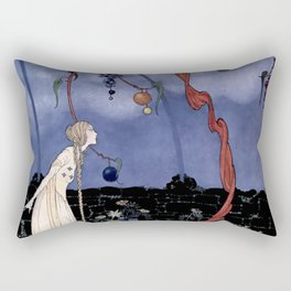 """Rosalie's Tree"" by Fairy Artist Virginia Sterrett Rectangular Pillow"