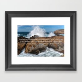 A Single Drop Framed Art Print