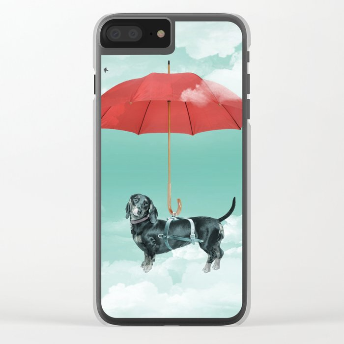 Dachshund chute Clear iPhone Case