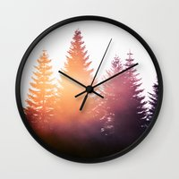 sunset Wall Clocks featuring Morning Glory by Tordis Kayma