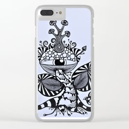 The Mushroom King Clear iPhone Case