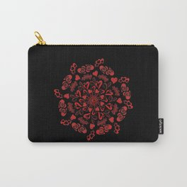 Red hearts mandala Carry-All Pouch