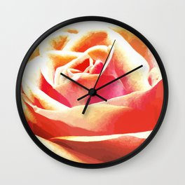 Peach Rose Lighted Wall Clock