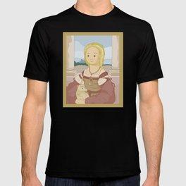 Lady with Unicorn by Raphael T-shirt