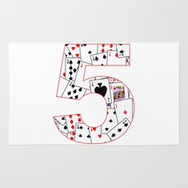 Number Five Cards Rug