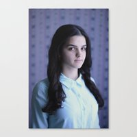 tina crespo Canvas Prints featuring Tina by Est/Ouest