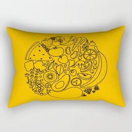yummy (yellow) Rectangular Pillow