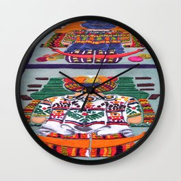 Guatemalan Alfombras Wall Clock