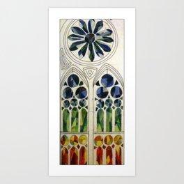 Stain-glass Window Art Print