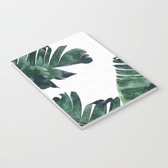 Banana Leaf Watercolor #society6 #buy #decor Notebook