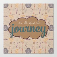 journey Canvas Prints featuring Journey by Skuishy