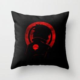 Red Uchiha Sasuke Throw Pillow