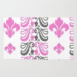 Fluer de Lis Custom Pink Rug