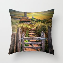 Gate to the Holy Island Throw Pillow