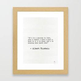 Albert Einstein great quote 5 Framed Art Print