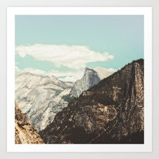 Half Dome Peek Art Print