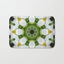 Canada anemone mandala 875 kal1 Bath Mat