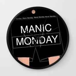 Manic Monday boxers Wall Clock