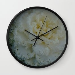 White and green cabbage. Wall Clock
