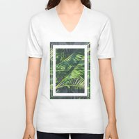 palm trees V-neck T-shirts featuring Palm Trees by Cody Rayn